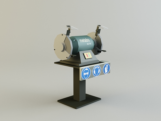 grinding_machine 3d model 3ds max obj 139130