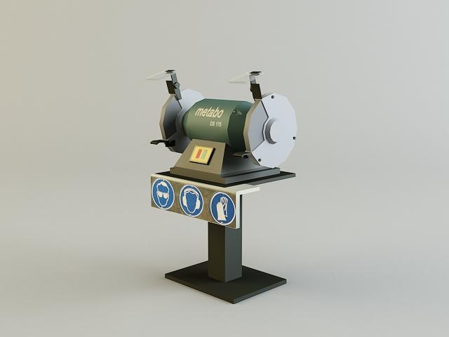 grinding_machine 3d model 3ds max obj 139132