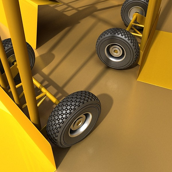 hand truck & 55 gallon drums high res 3d model 3ds max fbx obj 130543