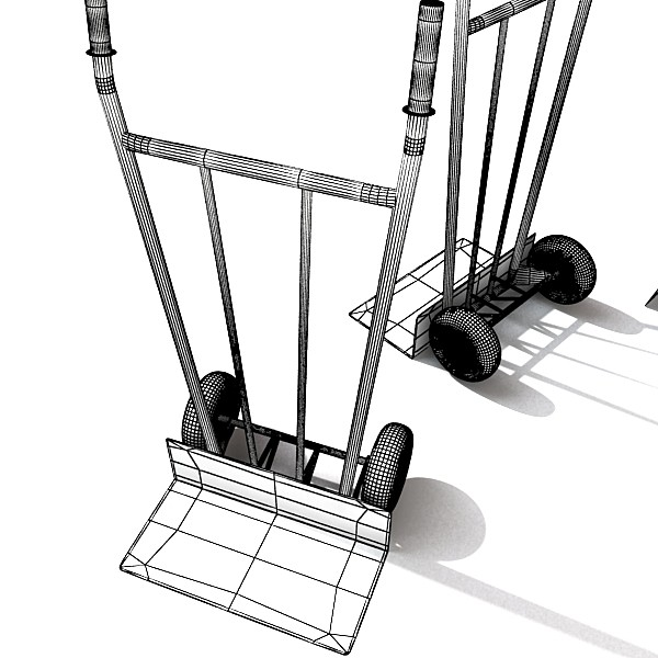 hand truck & 55 gallon drums high res 3d model 3ds max fbx obj 130549