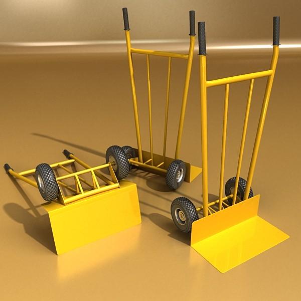 hand truck & cartons high res 3d model 3ds max fbx psd obj 130318