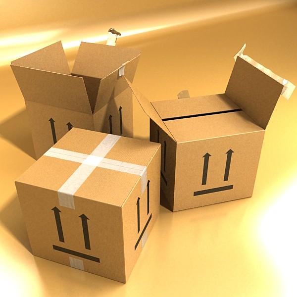 hand truck & cartons high res 3d model 3ds max fbx psd obj 130323