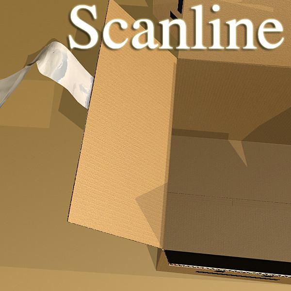 hand truck & cartons high res 3d model 3ds max fbx psd obj 130325