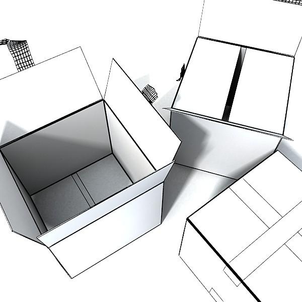 hand truck & cartons high res 3d model 3ds max fbx psd obj 130326