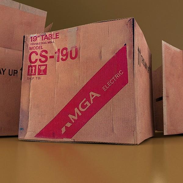 hand truck & cartons high res 3d model 3ds max fbx psd obj 130330