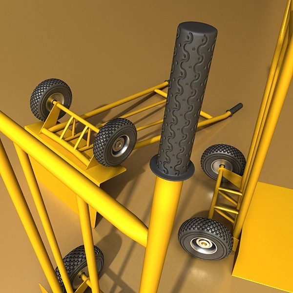hand truck high res textures 3d model 3ds max fbx obj 130291