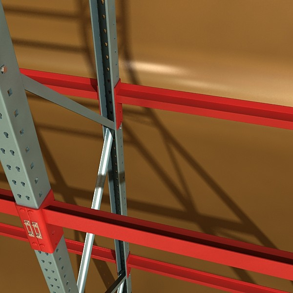 industrial shelving high detail 3d model max fbx obj 130700