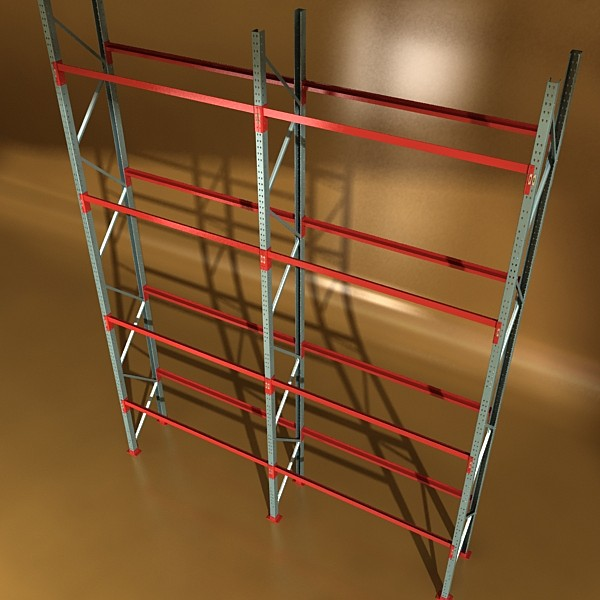 industrial shelving high detail 3d model max fbx obj 130702