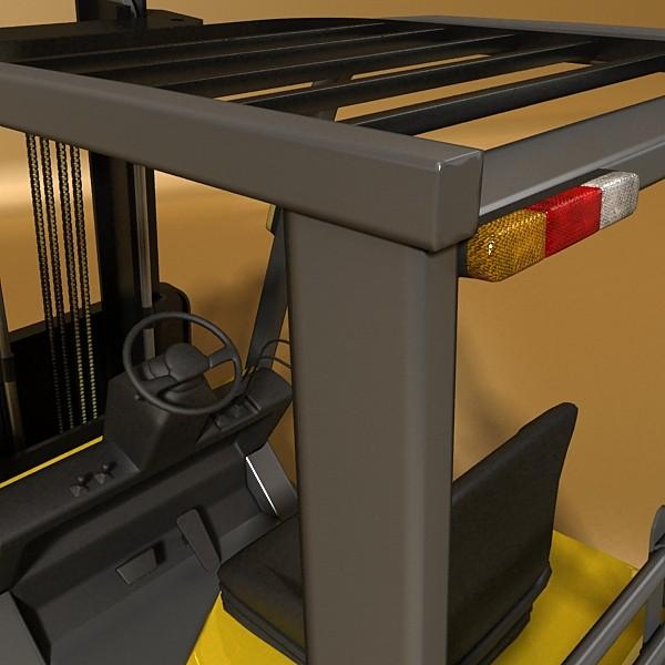 lift truck, pallet, cartons & metal drums 3d model max fbx obj 130620