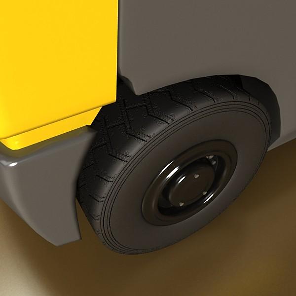 lift truck, pallet, cartons & metal drums 3d model max fbx obj 130621