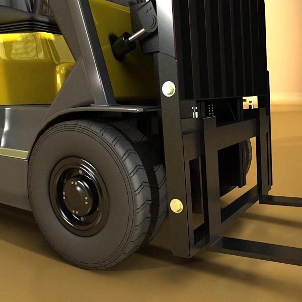lift truck, pallet, cartons & metal drums 3d model max fbx obj 130622