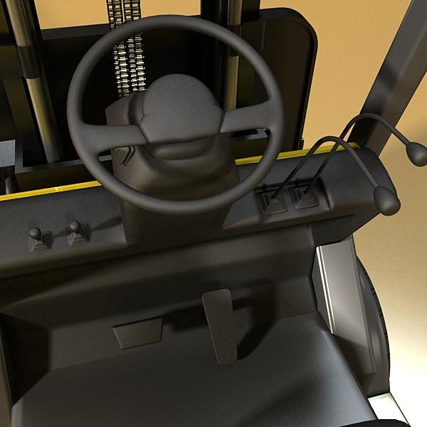 lift truck, pallet, cartons & metal drums 3d model max fbx obj 130623