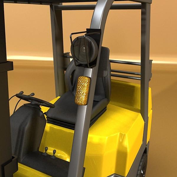 lift truck, pallet, cartons & metal drums 3d model max fbx obj 130624