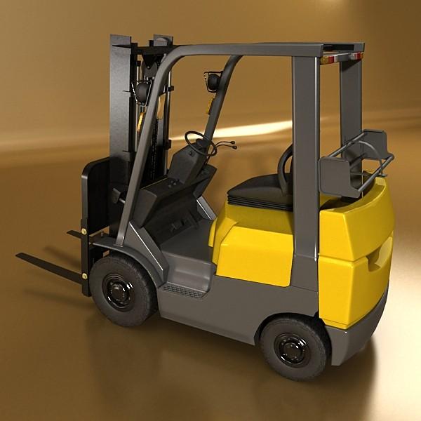 lift truck, pallet, cartons & metal drums 3d model max fbx obj 130626