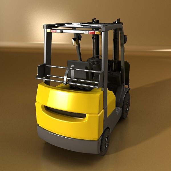 lift truck, pallet, cartons & metal drums 3d model max fbx obj 130627