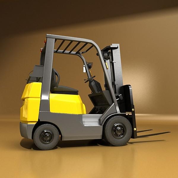 lift truck, pallet, cartons & metal drums 3d model max fbx obj 130628