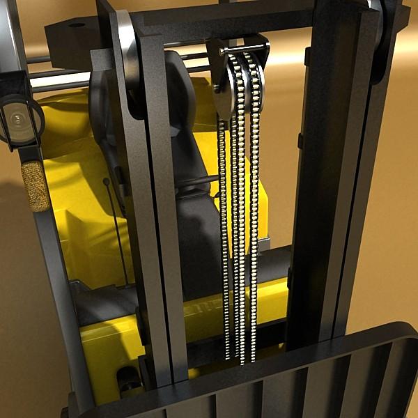 lift truck, pallet, cartons & metal drums 3d model max fbx obj 130629