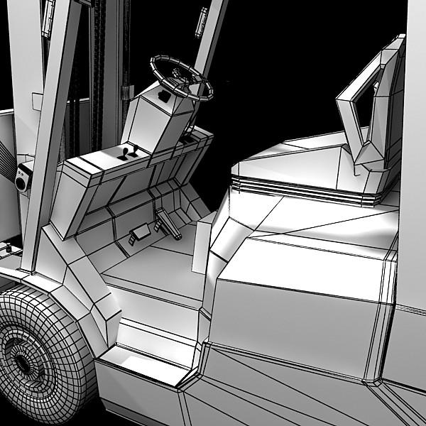 lift truck, pallet, cartons & metal drums 3d model max fbx obj 130633