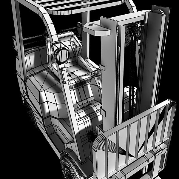 lift truck, pallet, cartons & metal drums 3d model max fbx obj 130634