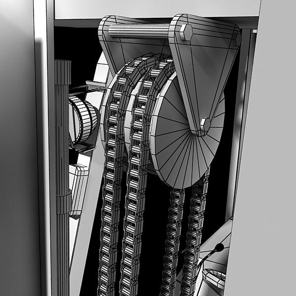 lift truck, pallet, cartons & metal drums 3d model max fbx obj 130635