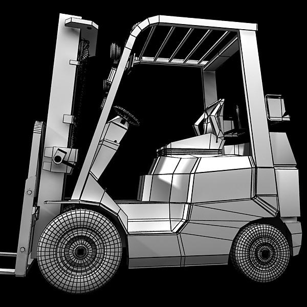 lift truck, pallet, cartons & metal drums 3d model max fbx obj 130636