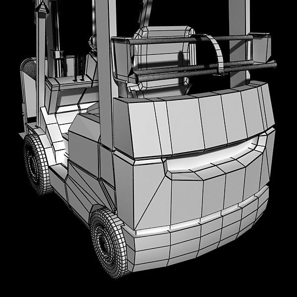 lift truck, pallet, cartons & metal drums 3d model max fbx obj 130637
