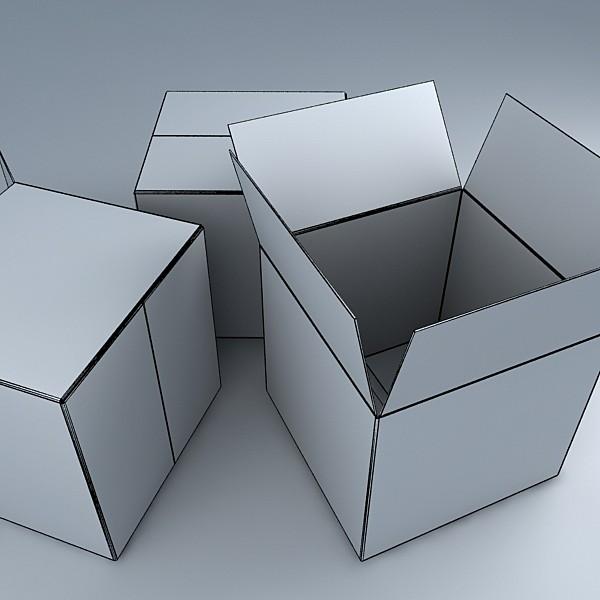 lift truck, pallet, cartons & metal drums 3d model max fbx obj 130651