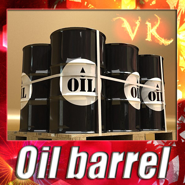metal oil drums & pallet high resolution 3d model 3ds max fbx obj 130351