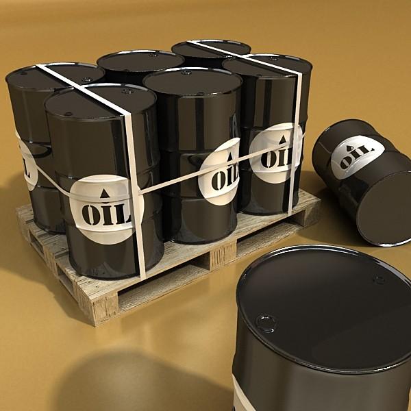 metal oil drums & pallet high resolution 3d model 3ds max fbx obj 130352