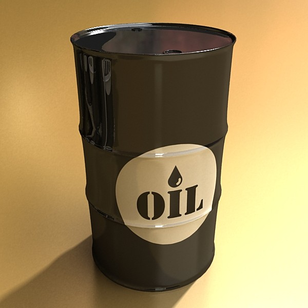 metal oil drums & pallet high resolution 3d model 3ds max fbx obj 130353