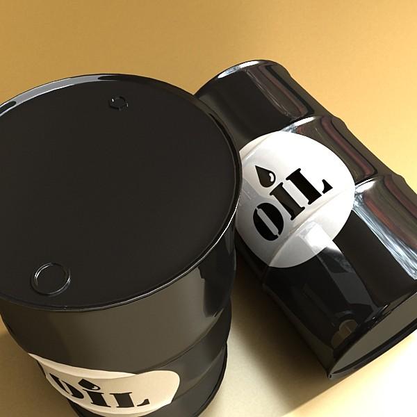 metal oil drums & pallet high resolution 3d model 3ds max fbx obj 130354