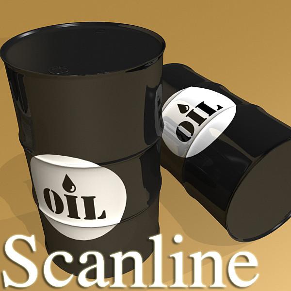 metal oil drums & pallet high resolution 3d model 3ds max fbx obj 130357