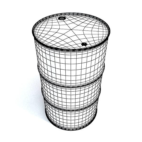 metal oil drums & pallet high resolution 3d model 3ds max fbx obj 130359