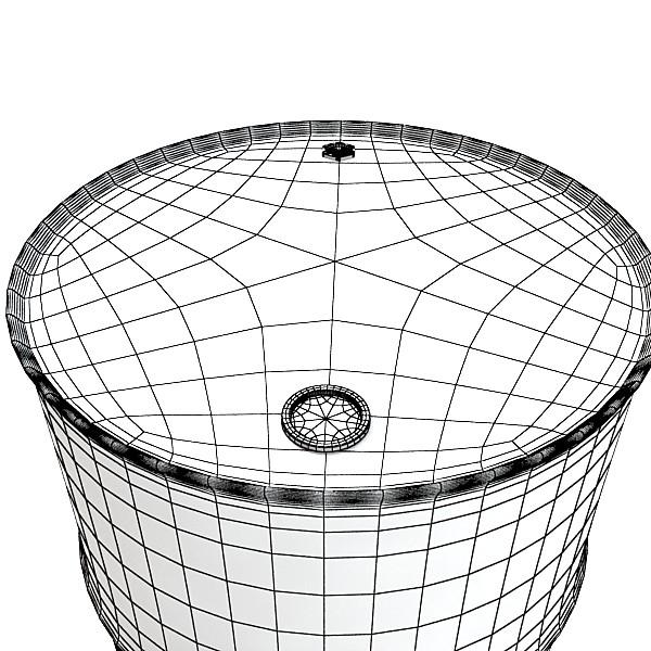 metal oil drums & pallet high resolution 3d model 3ds max fbx obj 130360