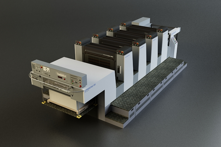 offset printer 3d model 3ds max obj 138443