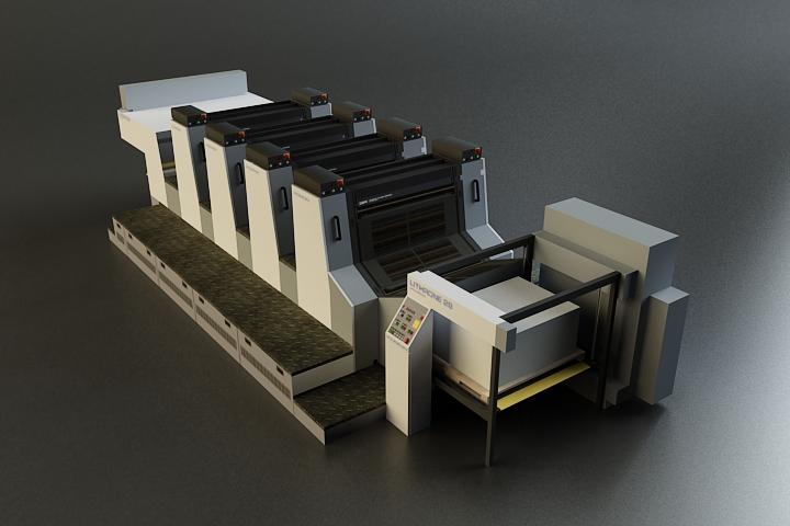 offset printer 3d model 3ds max obj 138444