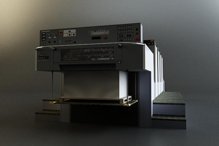 offset printer 3d model 3ds max obj 138446