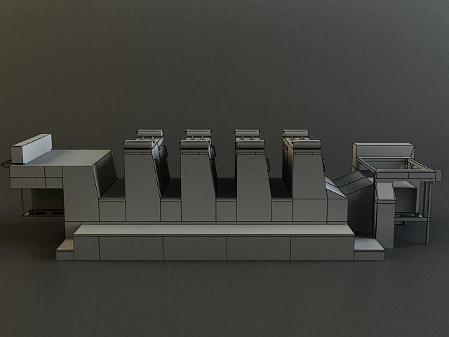 offset printer 3d model 3ds max obj 138447