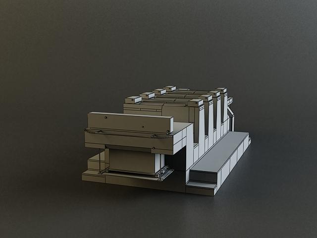offset printer 3d model 3ds max obj 138448