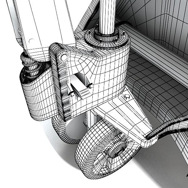 pallet jack high detail 3d model 3ds max obj 130567