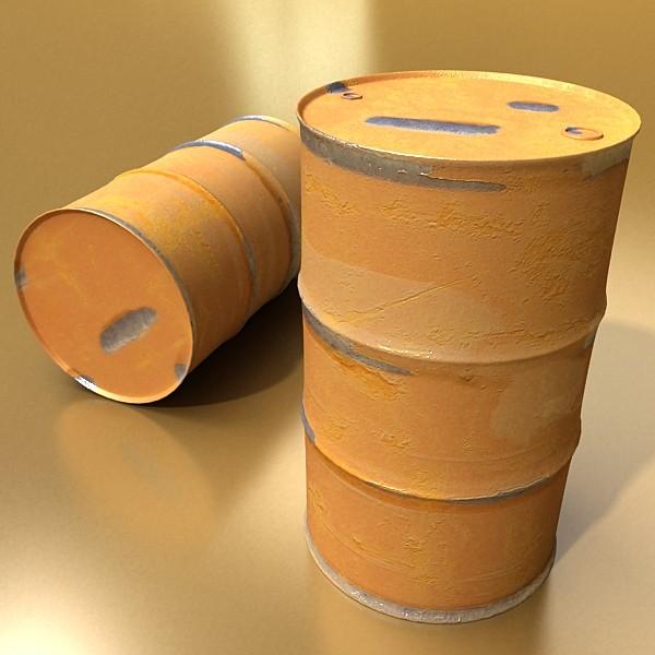 pallet & metal drums high resolution 3d model 3ds max fbx obj 130526