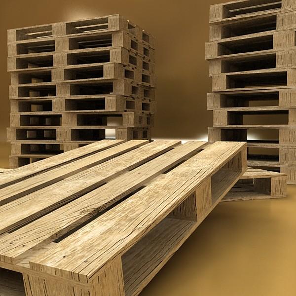 pallet & metal drums high resolution 3d model 3ds max fbx obj 130534