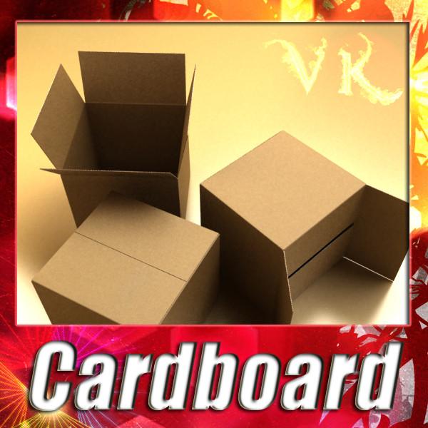 fotoreaļu kartona kārba ar augstu izšķirtspēju 3d modelis 3ds max fbx psd obj 130157