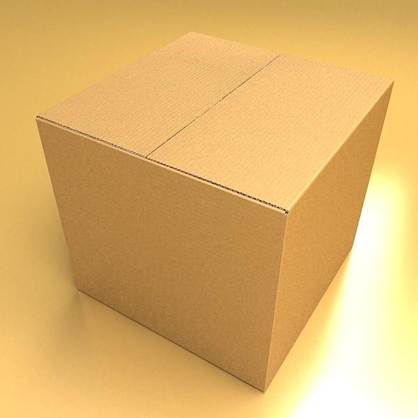 photoreal cardboard carton high res 3d model 3ds max fbx psd obj 130158