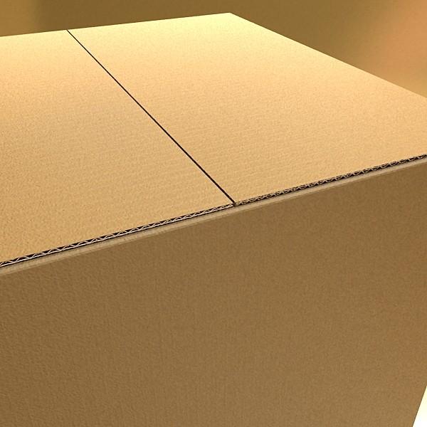 photoreal cardboard carton high res 3d model 3ds max fbx psd obj 130161