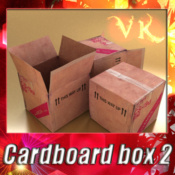 photoreal cardboard carton high res v2 3d model 3ds max fbx obj 130172