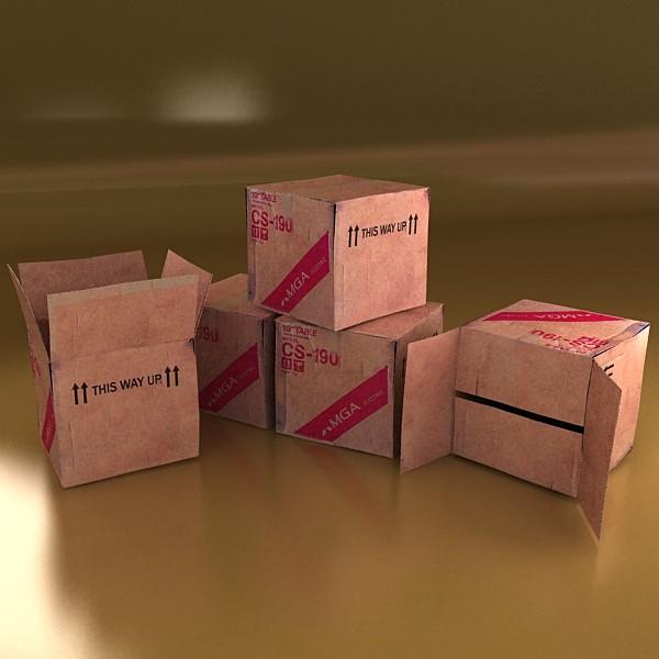 photoreal cardboard carton high res v2 3d model 3ds max fbx obj 130176