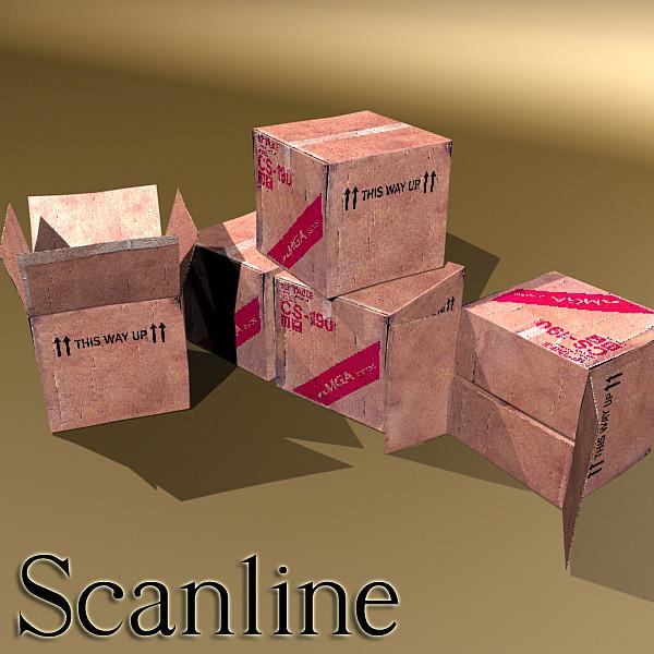 photoreal cardboard carton high res v2 3d model 3ds max fbx obj 130177