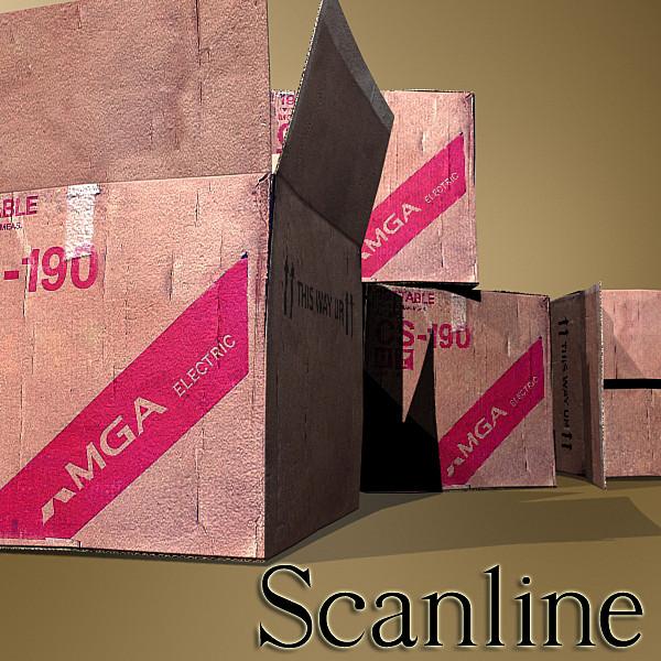 photoreal cardboard carton high res v2 3d model 3ds max fbx obj 130178
