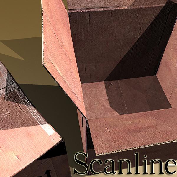 photoreal cardboard carton high res v2 3d model 3ds max fbx obj 130179